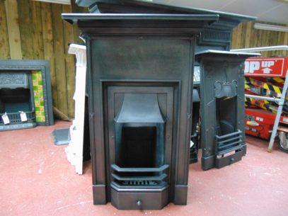 Tall Edwardian Cast Iron Bedroom Fireplace 1742B Antique Fireplace Company.