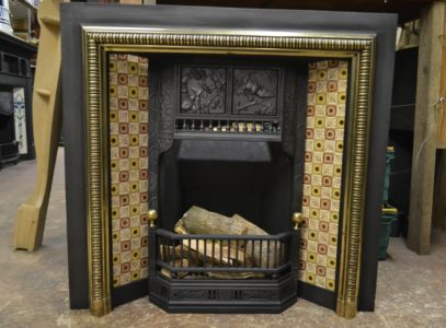 Genuine Arts & Crafts Tiled Insert 3036TI Antique Fireplace Company