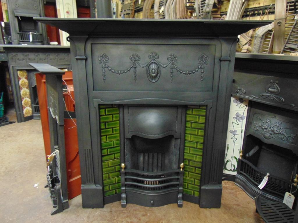 101tc 1781 edwardian tiled combination fireplace old fireplaces