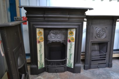 Late Victorian Tiled Fireplace 1780TC