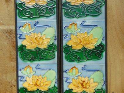 Yellow_water_Lily_fireplace_Tiles_R004