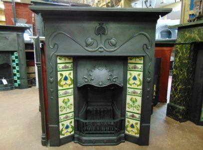030TC_1810_'Vienna'_Art_Nouveau_Tiled_Combination_Fireplace