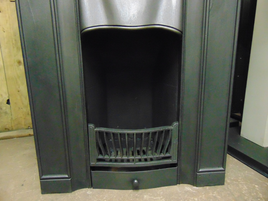 Art Nouveau Cast Iron Fireplace - 1839LC - Old Fireplaces