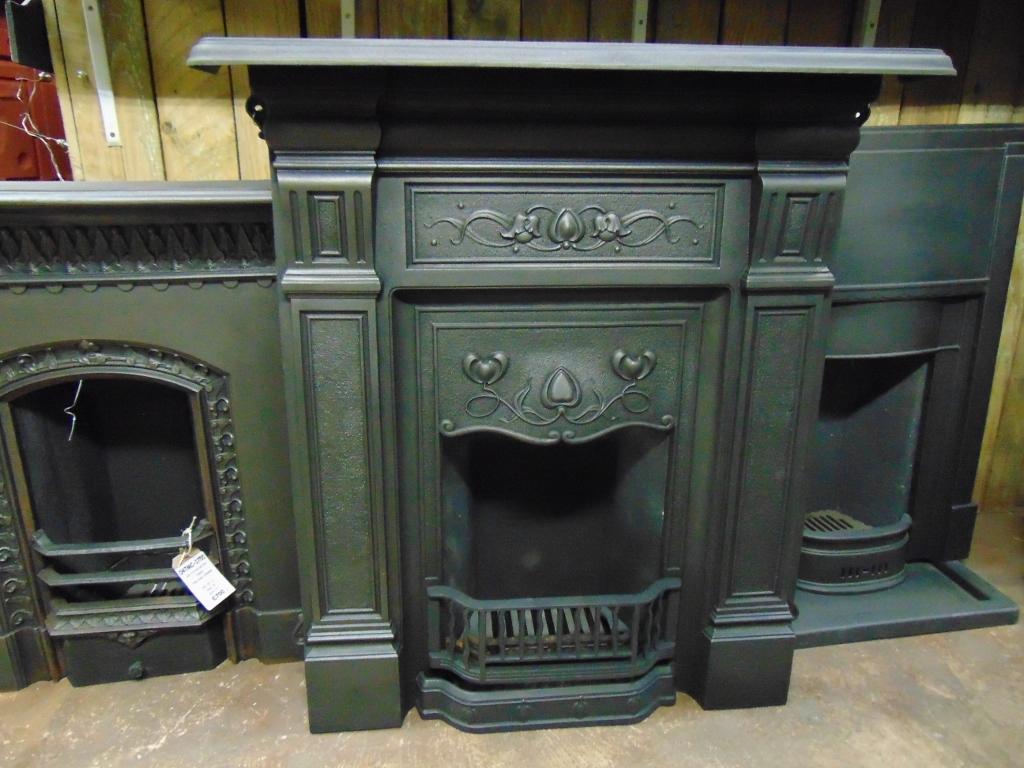 211lc 1841 art nouveau cast iron fireplace old fireplaces