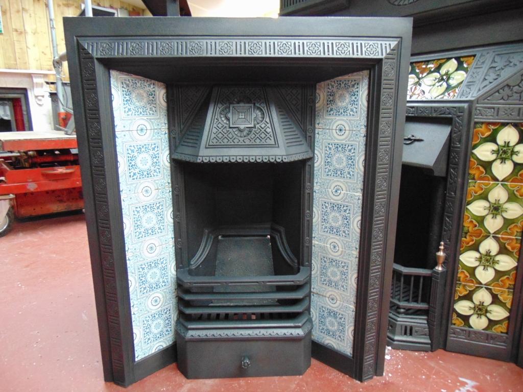 antique tiles for fireplace inserts u0026 vintage tiles surrounds uk