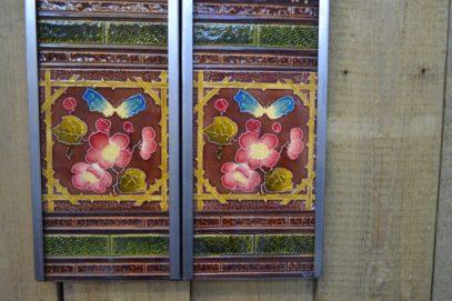 Butterfly Fireplace Tiles V036