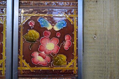 Victorian Butterfly Fireplace Tiles V036