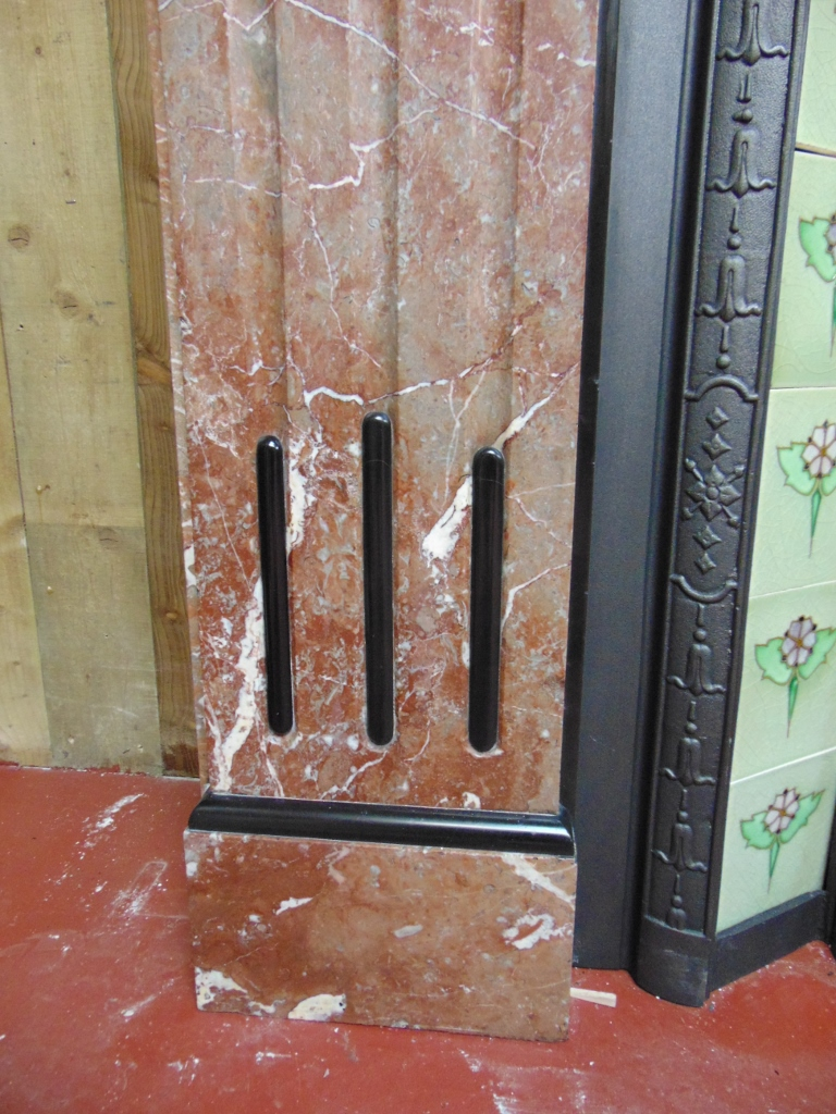Victorian Rouge Marble Fireplace 1876ms Antique Fireplace Co