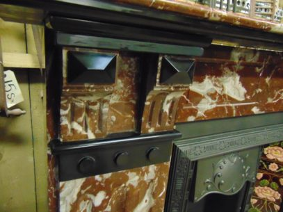 Antique Victorian Rouge Marble Fireplace Surround 1878MS Antique Fireplace Company