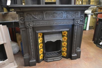 Victorian Cast Iron Fireplace Surround 1872CS Antique Fireplace Company.