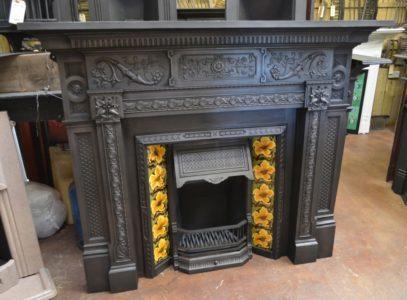 Victorian Cast Iron Fireplace Surround 1872CS Antique Fireplace Company.