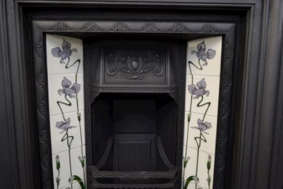 Original Edwardian Tiled Insert 1873TI - Antique Fireplace Company