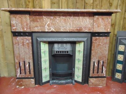 Victorian Rouge Marble Fireplace – 1876MS - The Antique Fireplace Company