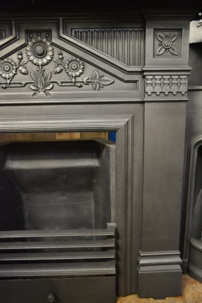 Original Victorian 'Daisy' Fireplace 3019LC Old Fireplaces