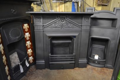 Original Victorian Daisy Fireplace - 3019LC - The Antique Fireplace Company