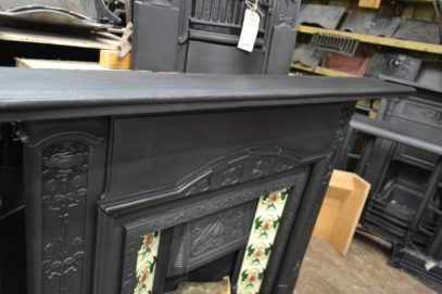 Art Nouveau Cast Iron Surround 1907CS Old Fireplaces