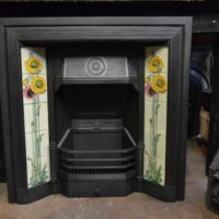 Late Victorian Tiled Fireplace Insert - 1937TI - The Antique Fireplace Company