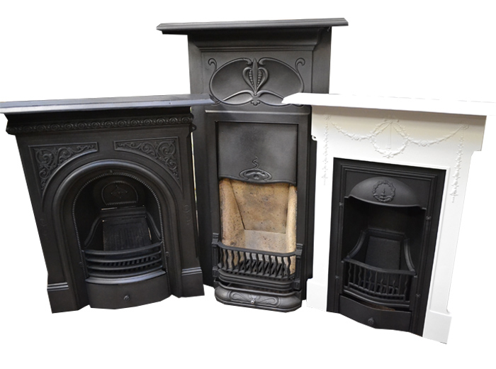 Antique Cast Iron Bedroom Fireplaces