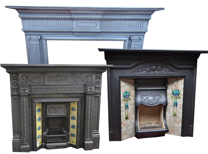 Antique Cast Iron Fire Surrounds