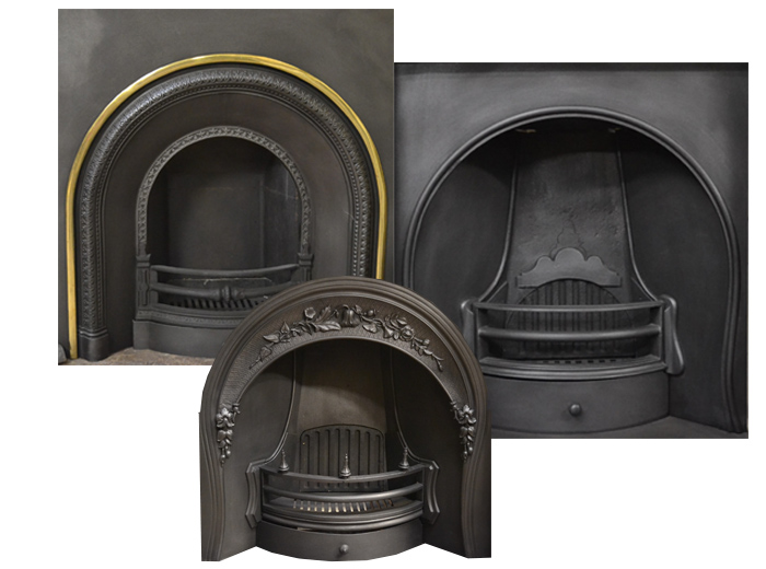 Antique Arched Fireplace Inserts