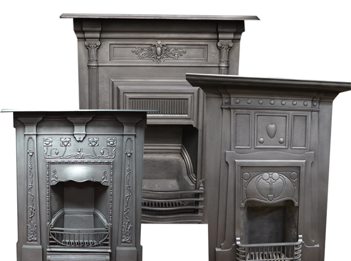Large Combination Antique Fireplaces