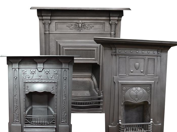 Large Combination Antique Fireplaces