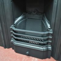 Pretty Victorian Cast Iron Insert 1954I - The Antique Fireplace Company