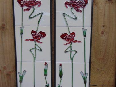 Burgandy Jazz Reproduction Fireplace Tiles R003 - Oldfireplaces