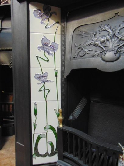 Reproduction Fireplace Tiles R005