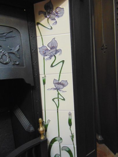 Lilac Reproduction Fireplace Tiles R005 Oldfireplaces