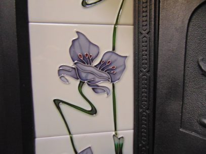 Lilac Reproduction Fireplace Tiles R005