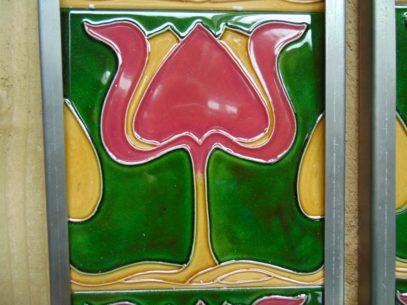 Art Nouveau Style Reproduction Fireplace Tiles R010 Antique Fireplace Company