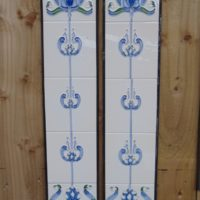 lue Tulip Reproduction Fireplace Tiles R012 - Oldfireplaces