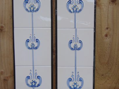 Blue Tulip Reproduction Fireplace Tiles R012 - Oldfireplaces