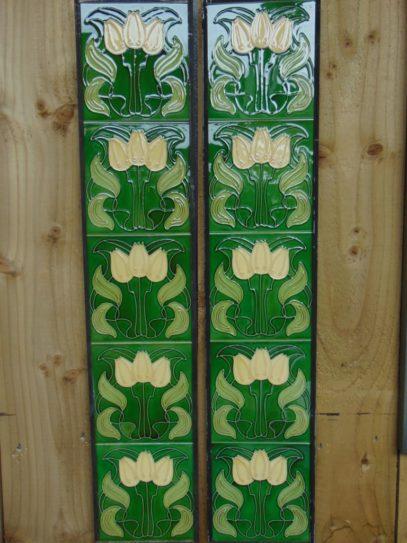 Art Nouveau Style Reproduction Fireplace Tiles R013