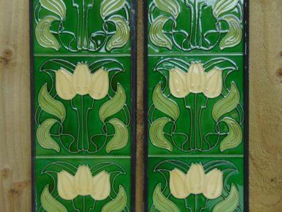 Art Nouveau Style Reproduction Fireplace Tiles R013 Antique Fireplace Company
