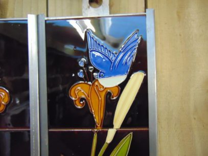 Reproduction Bird & Butterfly Fireplace Tiles R036 Antique Fireplace Company