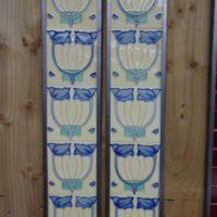 Art Nouveau Style Reproduction Fireplace Tiles R039 Antique Fireplace Company
