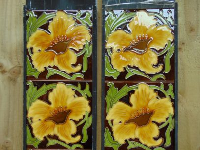 Victorian Style Reproduction Fireplace Tiles R041 Oldfireplaces