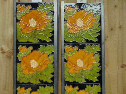 Victorian Style Reproduction Fireplace Tiles R043 Antique Fireplace Company