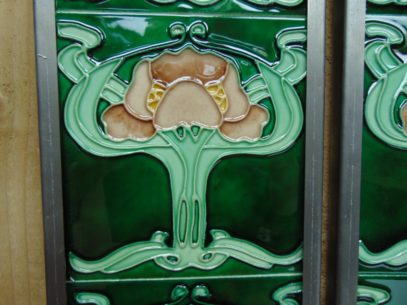 Art Nouveau Styled Reproduction Fireplace Tiles R049Oldfireplaces