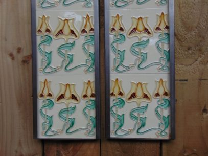 Art Nouveau Styled Reproduction Fireplace Tiles R050 Antique Fireplace Company