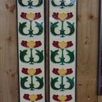 Art Nouveau Styled Reproduction Fireplace Tiles R051 Oldfireplaces