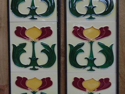 Art Nouveau Styled Reproduction Fireplace Tiles R051Oldfireplaces