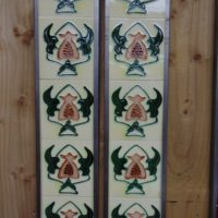 Art Nouveau Styled Reproduction Fireplace Tiles R053 Oldfireplaces