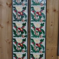 Edinburgh Floral Reproduction Fireplace Tiles R054 - Antique Fireplace Company
