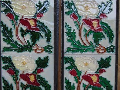 Art Nouveau Styled Reproduction Fireplace Tiles R054 Antique Fireplace Company