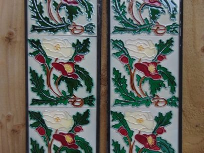 Art Nouveau Styled Reproduction Fireplace Tiles R054 Art Nouveau Styled