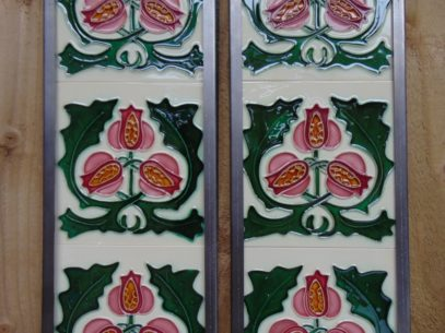 Art Nouveau Styled Reproduction Fireplace Tiles R055 Oldfireplaces
