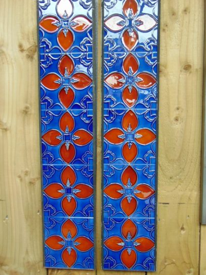 Art Nouveau Styled Reproduction Fireplace Tiles R058 Antique Fireplace Company